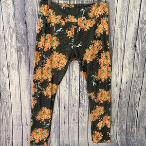 LulaRoe Disney Bambi Grey/Orange Leggings, TC/XL